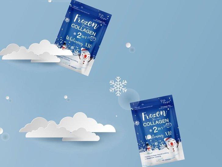 Review Frozen Collagen 2 in 1 Whitening X10