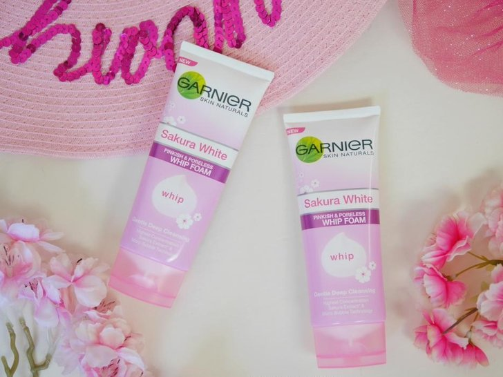 Review Garnier New Sakura Whip Foam - Bikin Kulit Glowing?